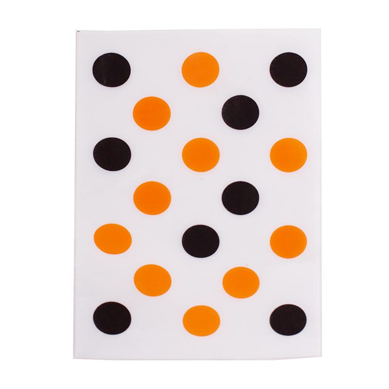 Bolsas para chuches lunares naranjas y negros