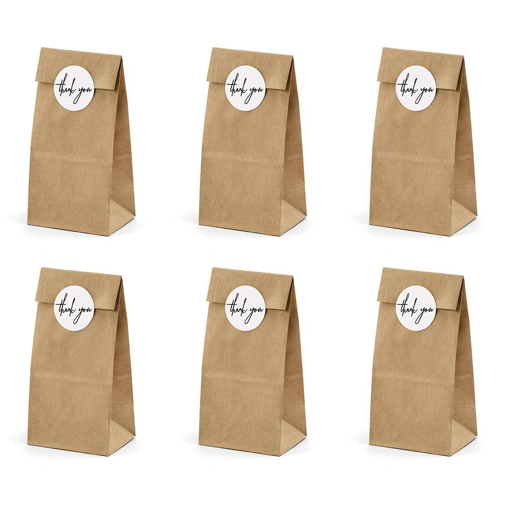 Bolsas para Dulces Kraft 6 Unidades