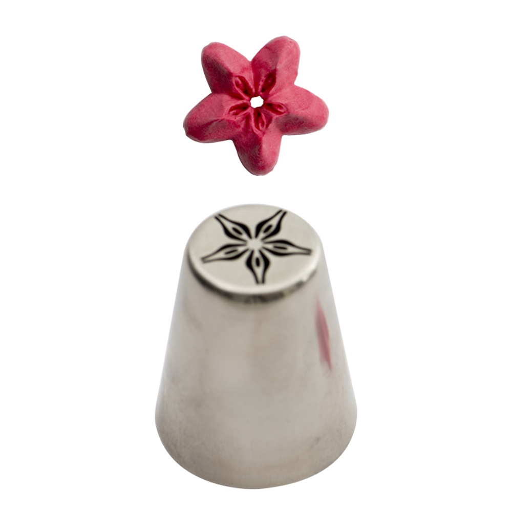 Boquilla rusa forma de flor de estrella.