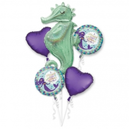 Bouquet de Globos Fiesta Sirena 5 Ud