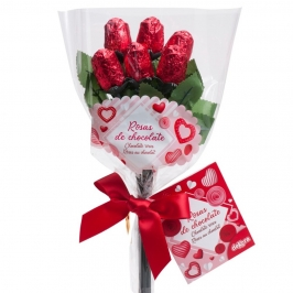 Bouquet Rosas de Chocolate 30 gr