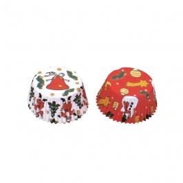 Mini Cápsulas cupcakes Navidad (50 uds)