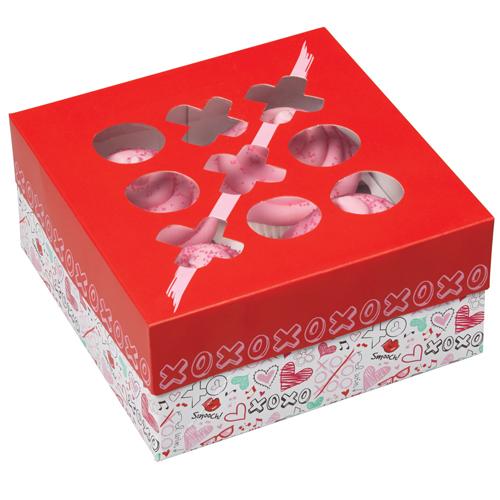 Caja para 4 cupcakes Mucho Amor