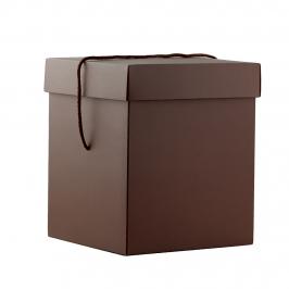 Caja Cuadrada para Panettone Marrón 22 X 22 X 26,5 cm