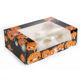 Caja para 6 cupcakes Halloween