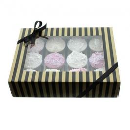 Caja para 12 cupcakes Luxury Negro y Oro