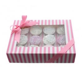 Caja para 12 cupcakes Luxury Rosa y Blanco