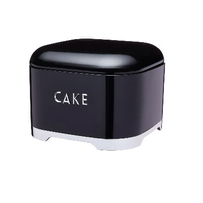 Caja metálica Retro para tartas Negra