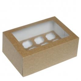 Caja para 12 mini cupcakes Kraft