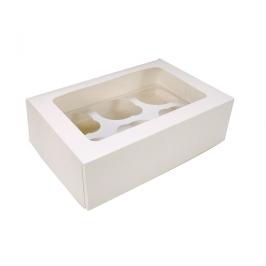 Caja para 6 cupcakes Blancas