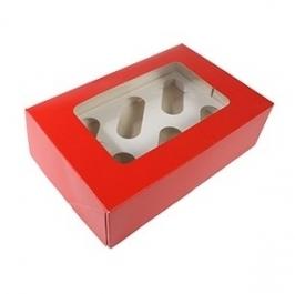 Caja para 6 cupcakes Red Velvet
