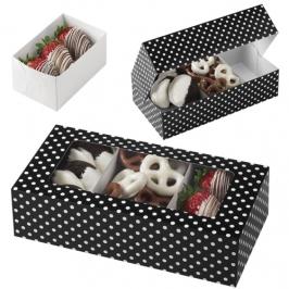 Caja para Dulces Black Polka Dots (3 uds)