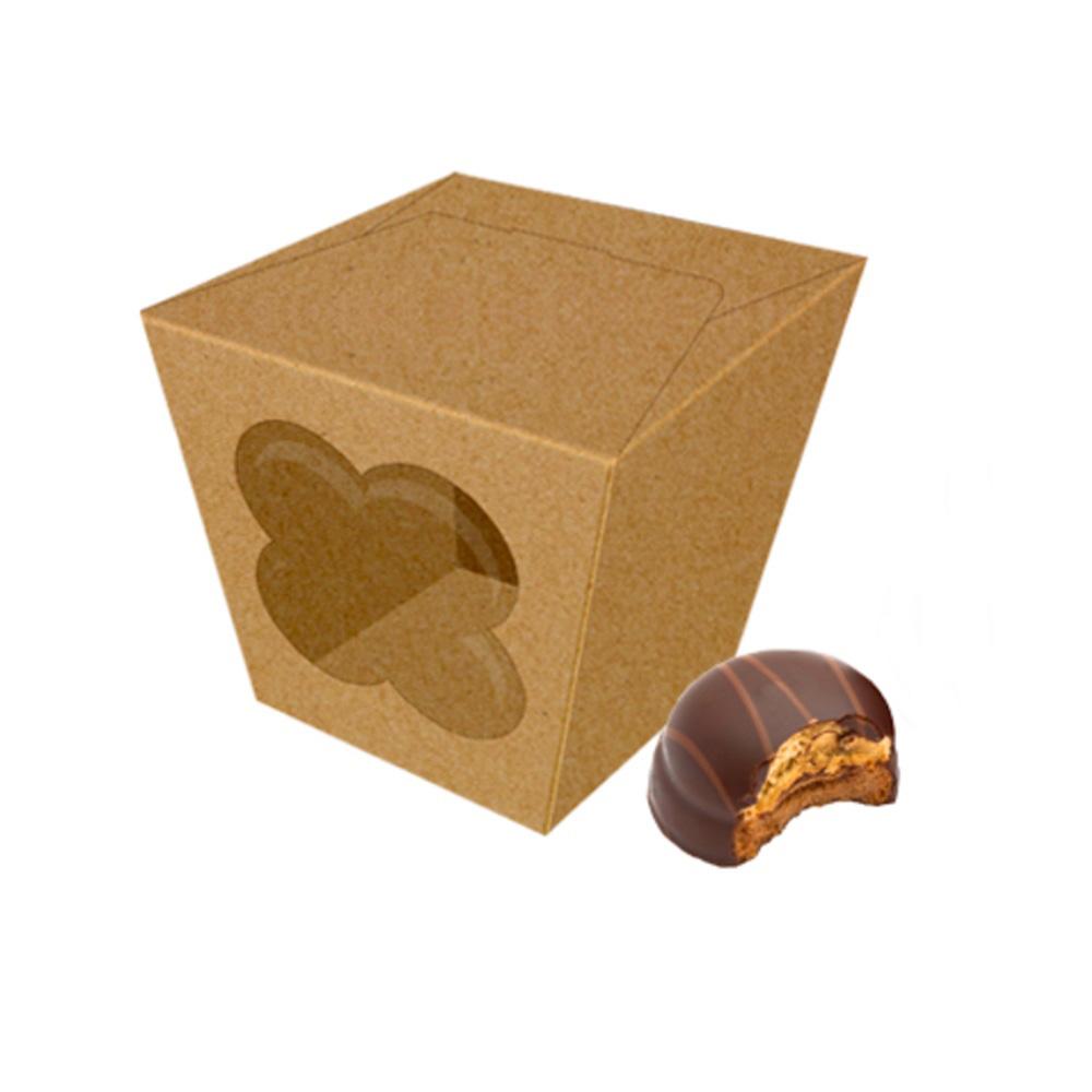 Caja Para Galletas y Dulces Kraft 12 cm