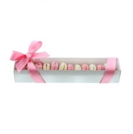 Caja blanca satinada para Galletas y Macarons