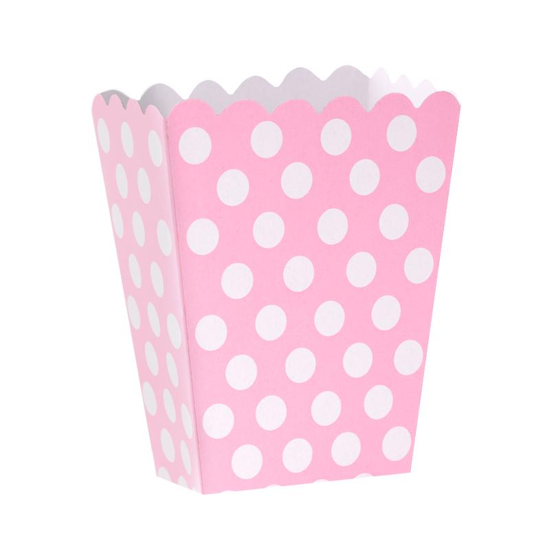 Caja para Palomitas Rosa con Lunares Blancos - My Karamelli