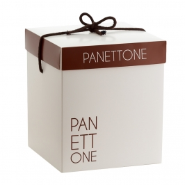 Caja para Panettone Barniz Soft 19 x 19 x 25 cm de alto