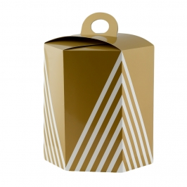 Caja para Panettone Hexagonal 23 x 27 cm de alto