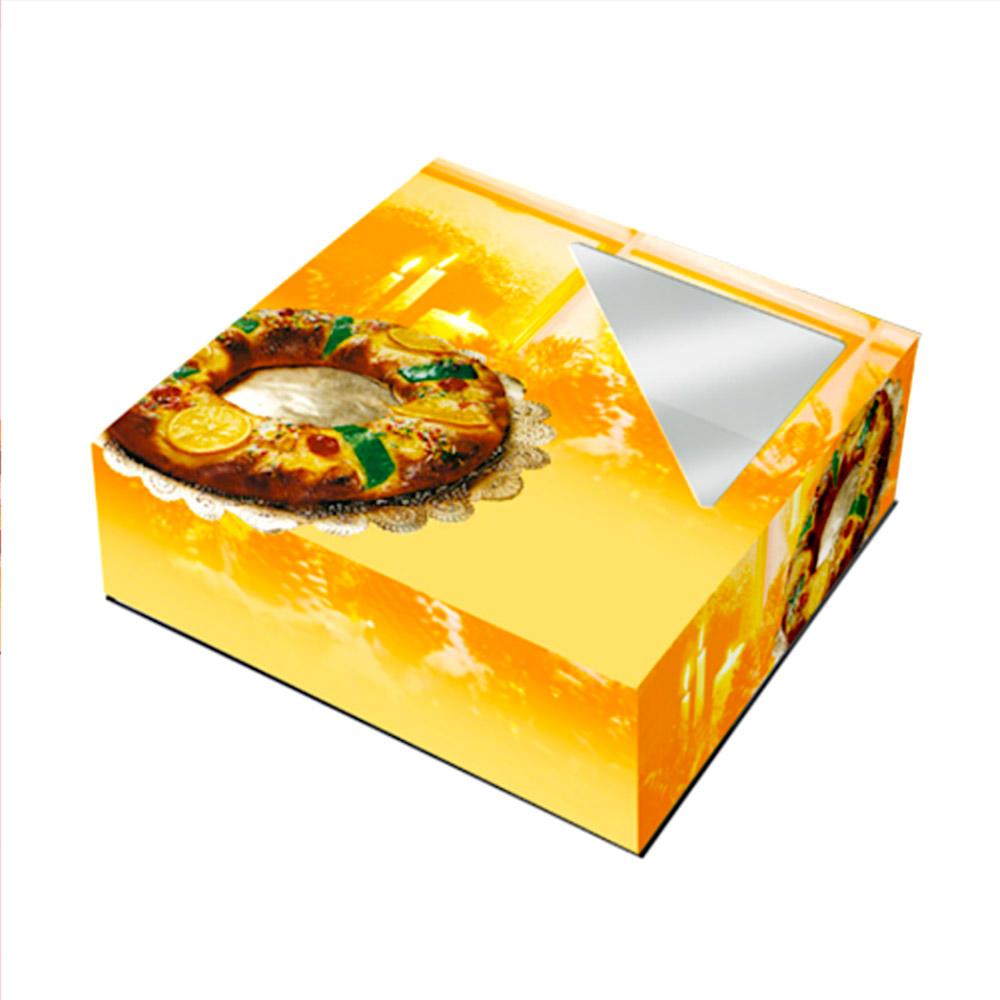Caja para Roscón de Reyes Dorada 33 cm
