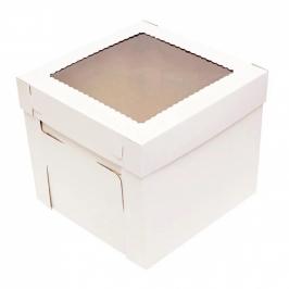 Caja para Tarta Con Ventana 25 x 25 x 15 cm