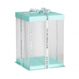 Caja para Tarta Deluxe Azul 21,5 cm