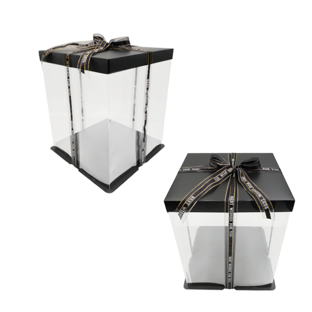 Caja para Tarta Deluxe Negra 30 cm