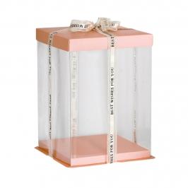 Caja para Tarta Deluxe Rosa 17 cm