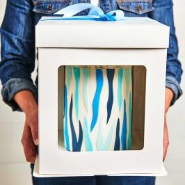 Caja para Tarta Extra Alta 26x26x25cm de Alto