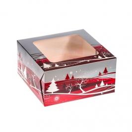 Caja para tartas Navidad 25 x 12 cm
