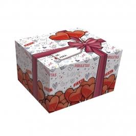 Caja Piruletas Corazón Cereza 20 ud