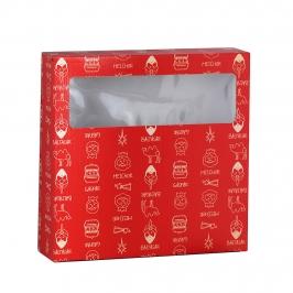 Caja Roscón de Reyes Roja 35 cm