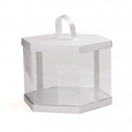 Caja Vitrina Hexagonal 25 cm