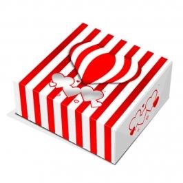Caja para Galletas Corazones y Rayas 24 cm