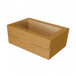 Caja para Galletas Kraft 19 x 11 x 7 cm de alto