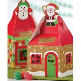 Cajas para Dulces Casita de Navidad (4 uds)