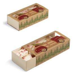 Cajas para dulces Navidad Vintage 3 unidades