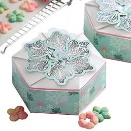 Cajas para galletas hexagonales copos de nieve