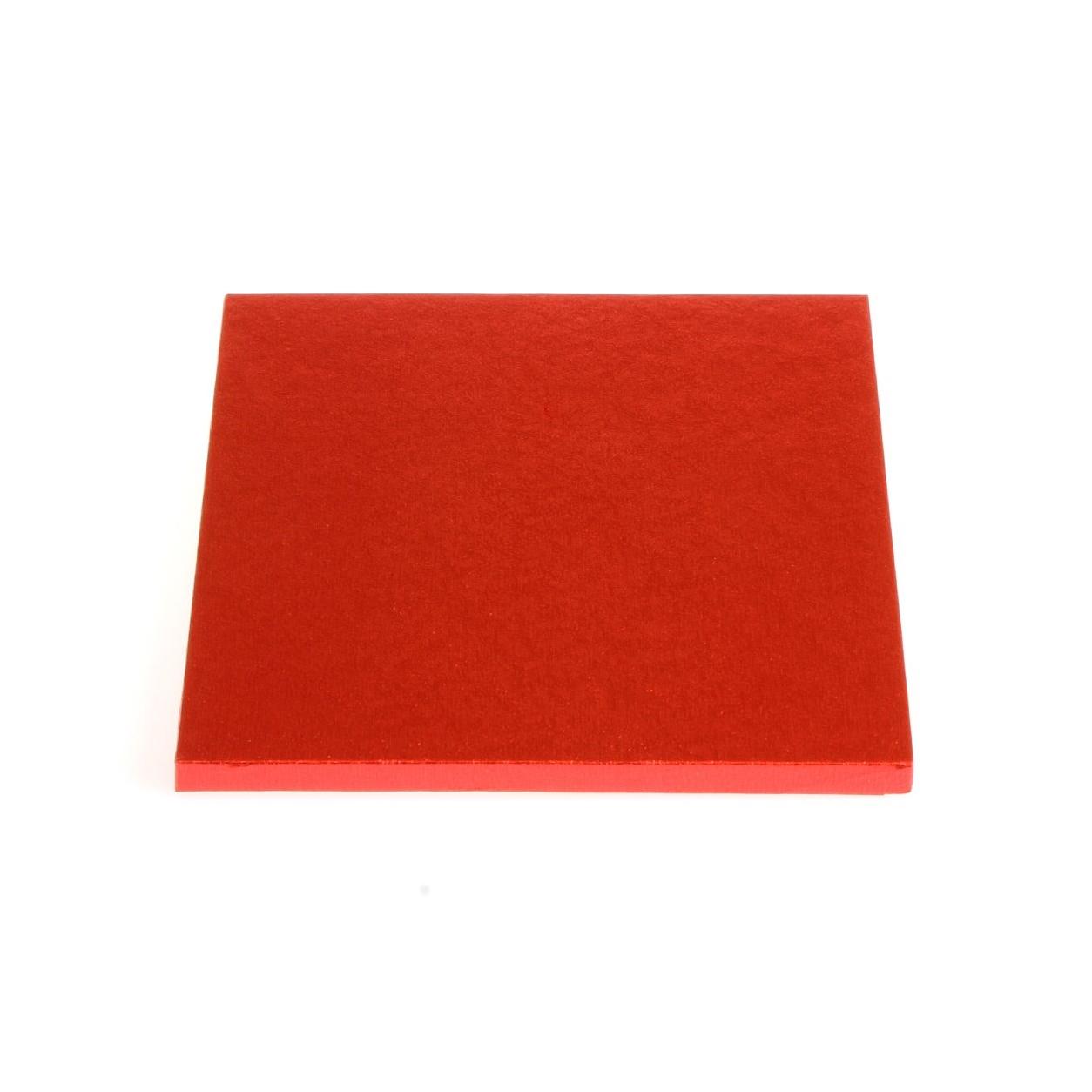 Cake drum cuadrado rojo metalizado 35cm