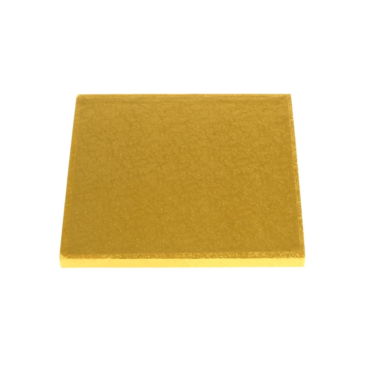 Cake drum dorado cuadrado de 25 cm