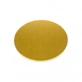 Cake Drum dorado Redondo 20 cm
