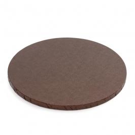 Cake drum redondo marrón 25 cm