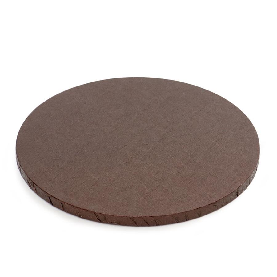 Cake Drum Redondo Marrón Metalizado 30 cm
