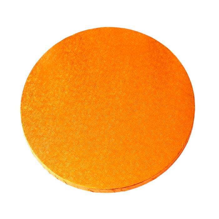 Cake Drum Redondo Naranja 35 cm