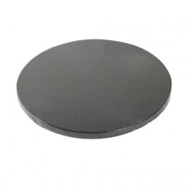 Cake drum redondo negro metalizado 35cm