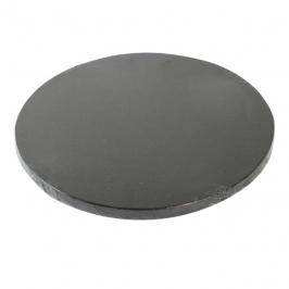 Cake Drum Redondo Negro Metalizado 40cm