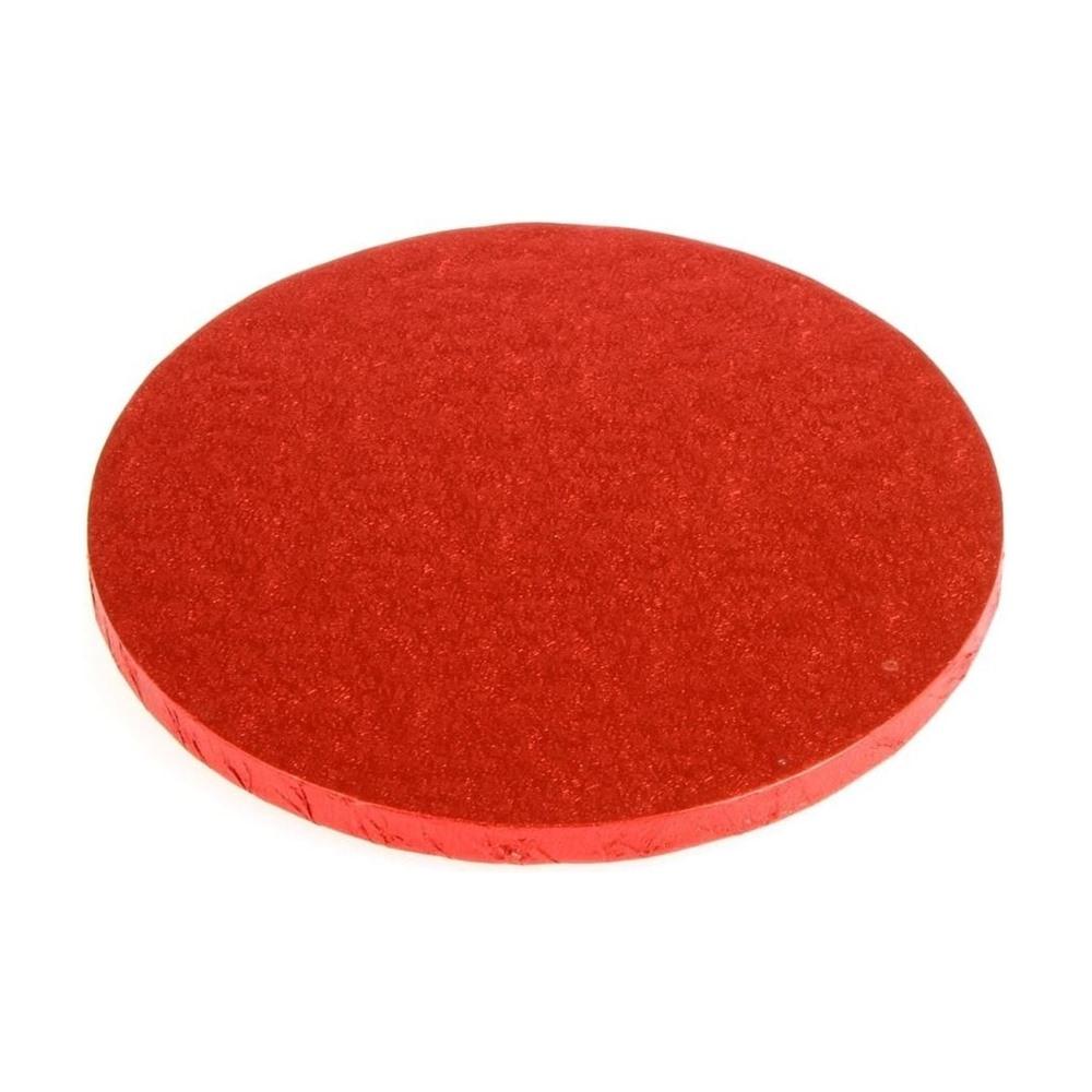 Cake drum redondo rojo metalizado 35cm