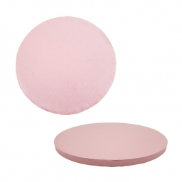 Cake Drum Redondo Rosa Bebé 25 cm x 1,2 cm