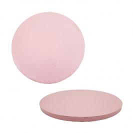 Cake Drum Redondo Rosa Bebé 30 cm x 1,2 cm