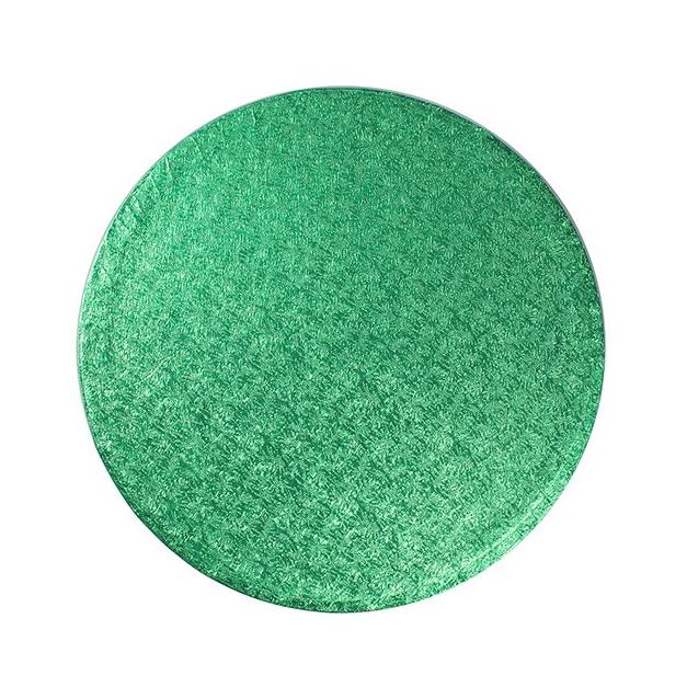 Cake drum redondo verde metalizado 35cm