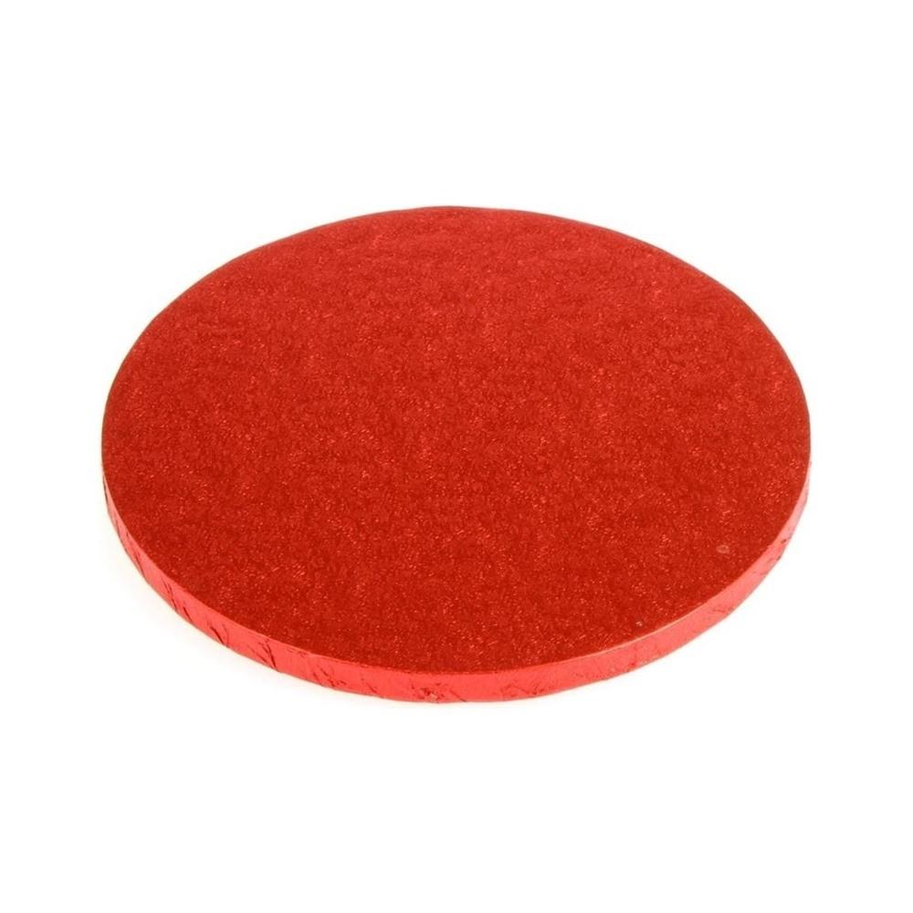 Cake drum rojo metalizado 30 cm