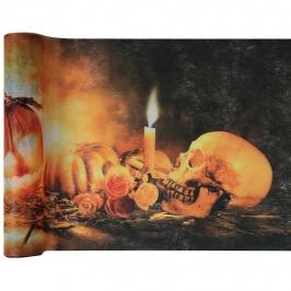 Camino de Mesa Skull&Pumpkin